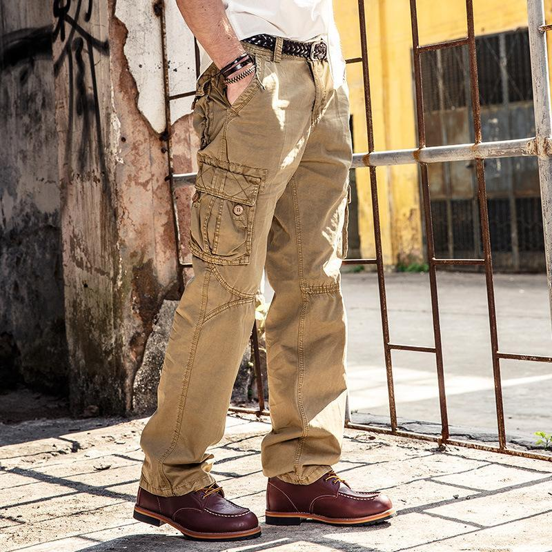 Cotton Loose Multi-Pocket Tooling Trousers