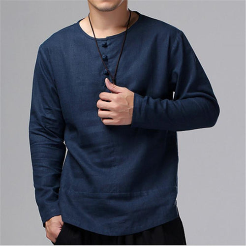 Fashionable Loose Necked Long Sleeved T-Shirt