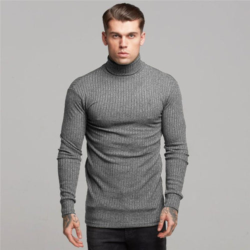 Men's Casual Slim Long Sleeve Turtleneck Sweater