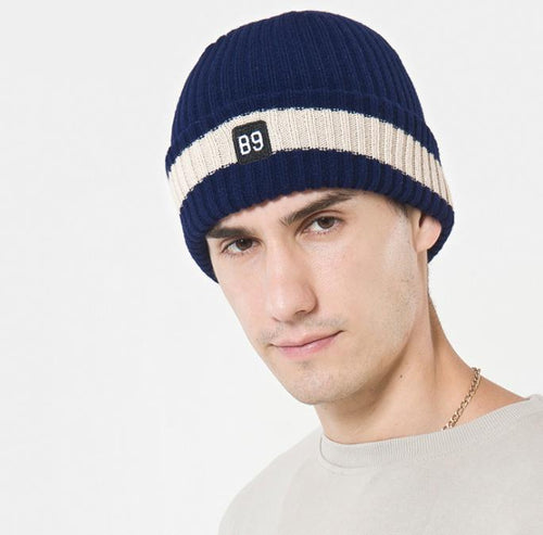 Winter warm embroidery thick wool hat