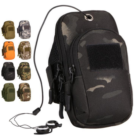 Running mobile phone arm bag camouflage mobile phone bag tactical wrist bag
