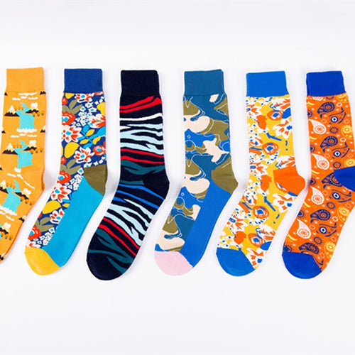 Abstract long tube personality socks