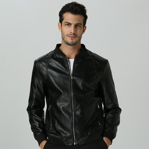 New spring and autumn men's leather slim casual leather jacket