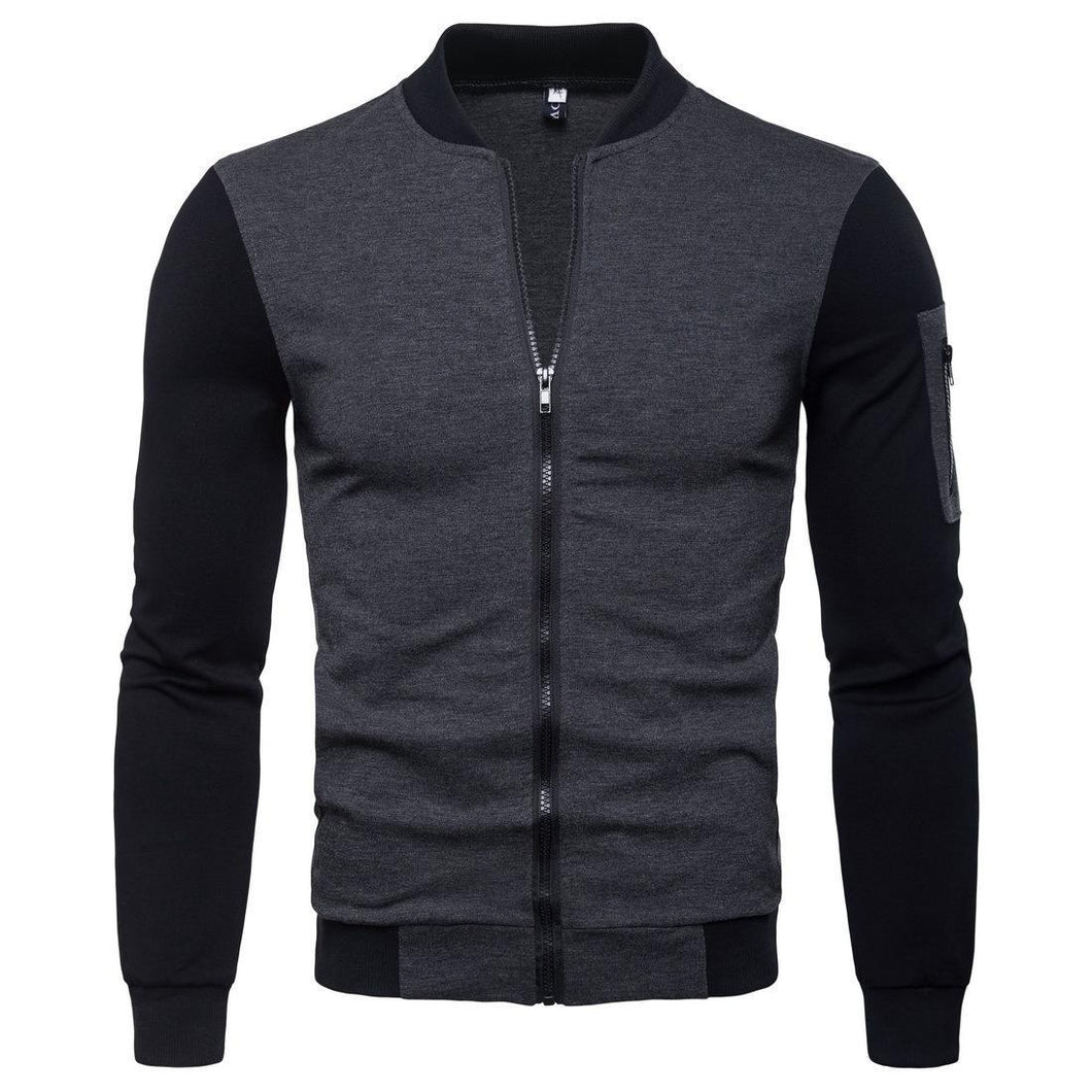 Men's Slim Fit Stand Collar Coat