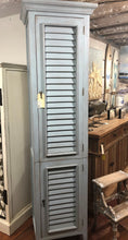 Load image into Gallery viewer, Tall Narrow Shutter Cabinet - Ocean Blue