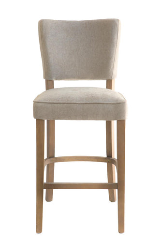 Bar Stool Upholstered Light Gray