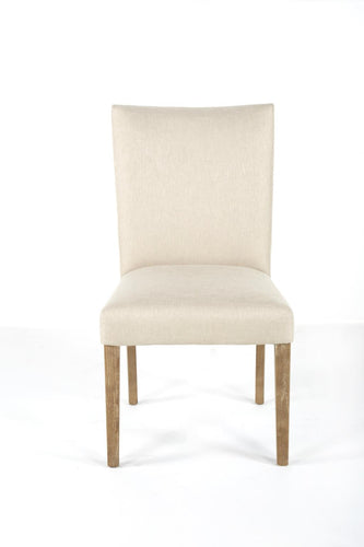 Upholstered Chair with Wooden Legs - Biscuit