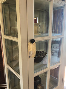 Tall Cabinet with Beveled Glass - Shutter Cabinet