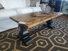 Load image into Gallery viewer, Farmhouse Coffee Table Double Pedestal