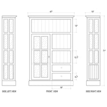 Load image into Gallery viewer, Cape Cod Kitchen Single Door Cupboard - White Distressed