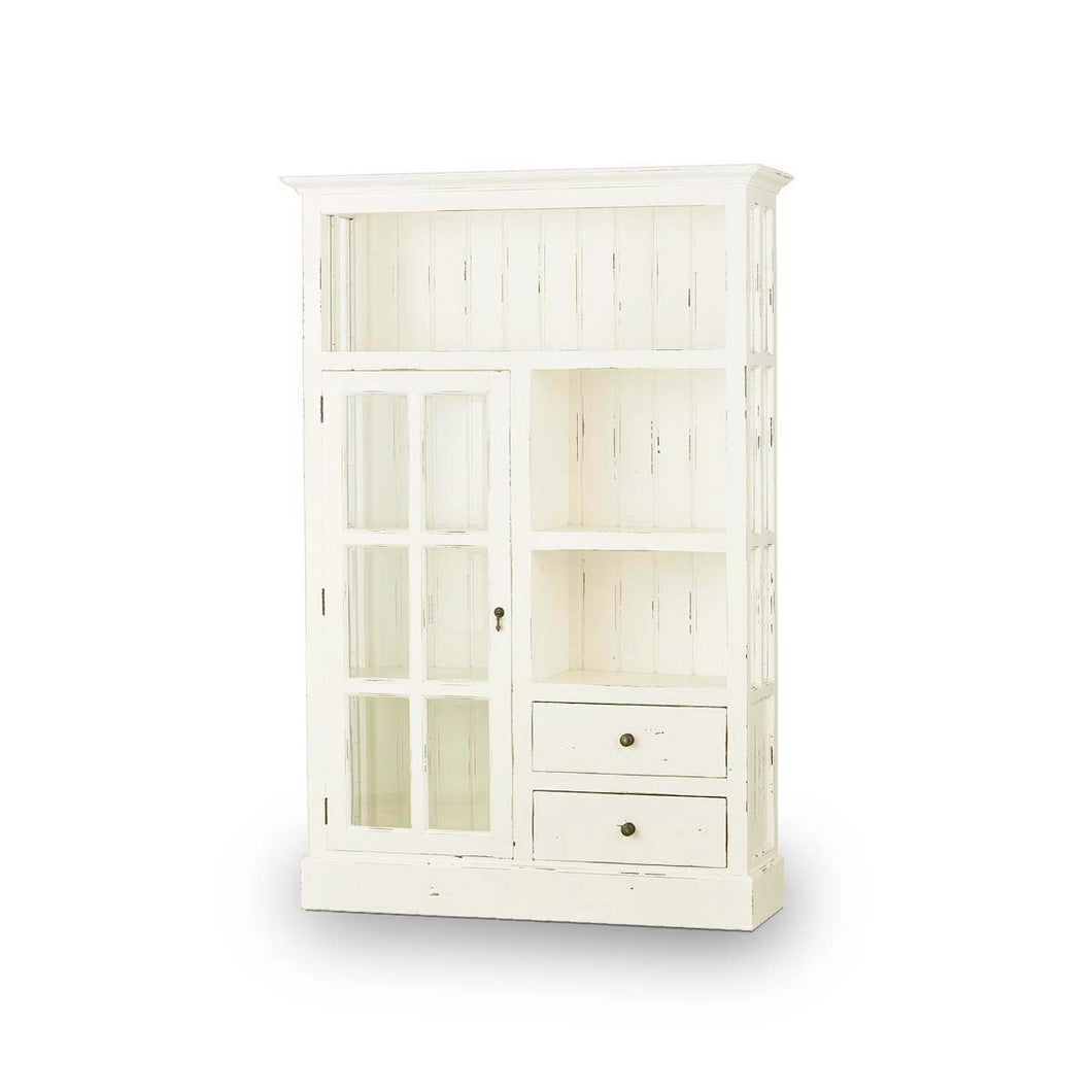 Cape Cod Kitchen Single Door Cupboard - White Distressed
