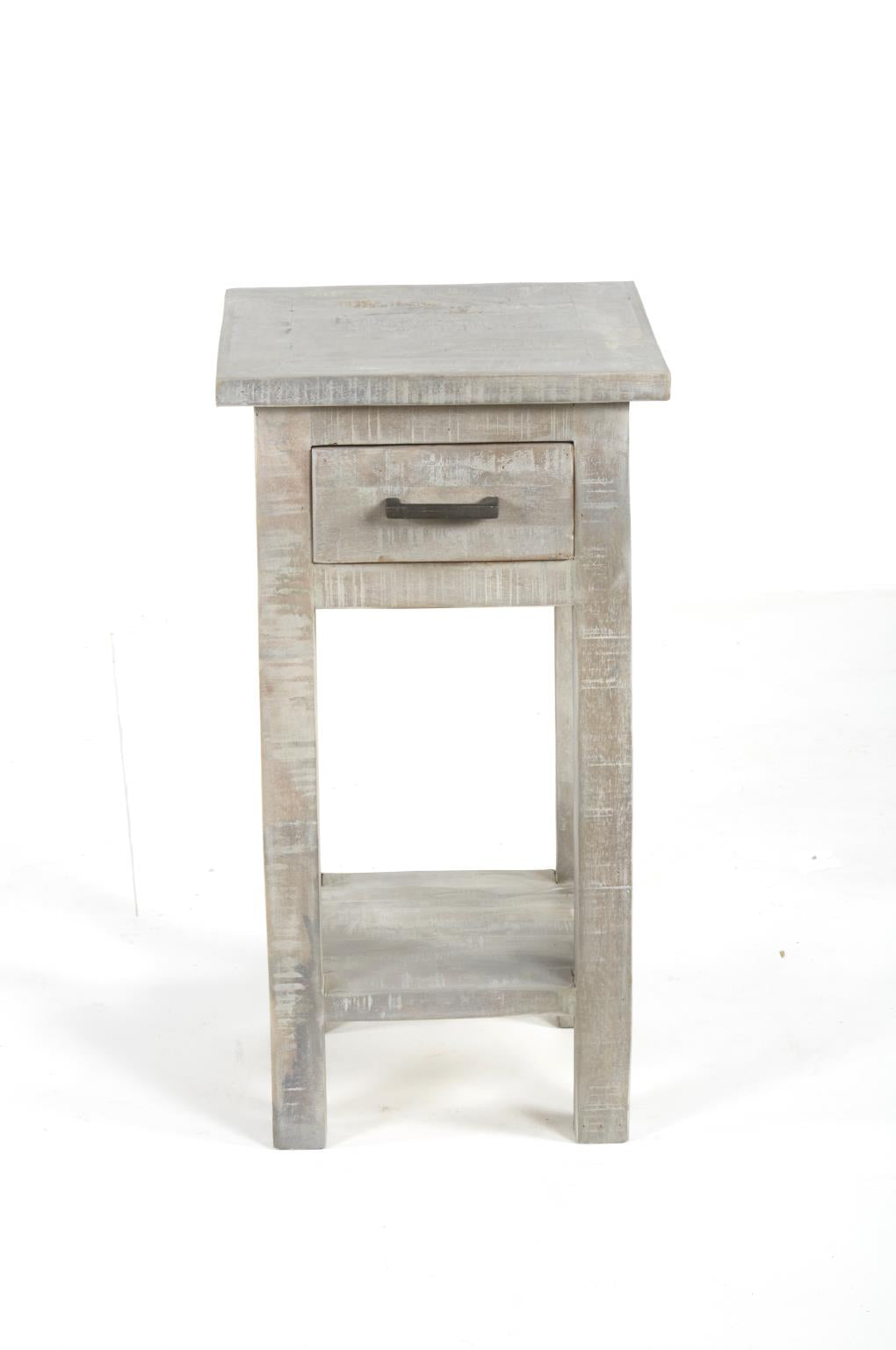 Modern End Table Gray Wash