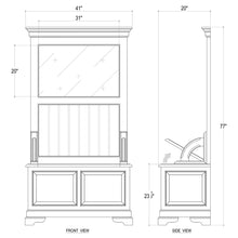 Load image into Gallery viewer, Homestead Hallstand w/ Storage