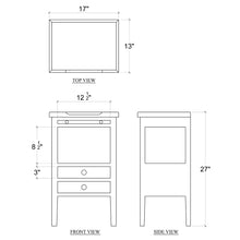 Load image into Gallery viewer, Eton 2 Drawer Side Table w/ Pull Out Shelf