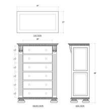 Load image into Gallery viewer, Charleston Tall Boy Dresser