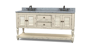Cottage Master Vanity w/ Sink & Marble Top