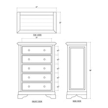 Load image into Gallery viewer, Huntley 5 Drawer Dresser