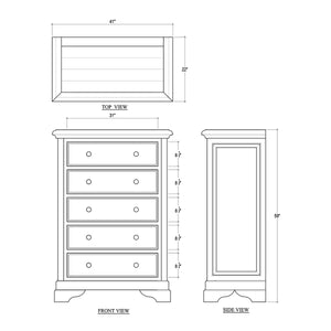 Huntley 5 Drawer Dresser