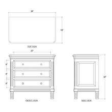 Load image into Gallery viewer, Hayward 3 Drawer Dresser Small