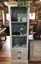 Load image into Gallery viewer, Tall Cabinet with Beveled Glass - Two Drawers