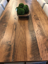 "Load image into Gallery viewer, 84"" Oak Dining Table - Tapered Legs"