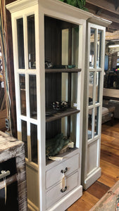 Tall Cabinet with Beveled Glass - Two Drawers
