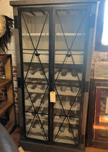 Load image into Gallery viewer, Wire Wine Cabinet - Distressed