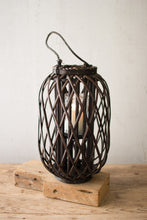 Load image into Gallery viewer, Dark Brown Willow Lantern