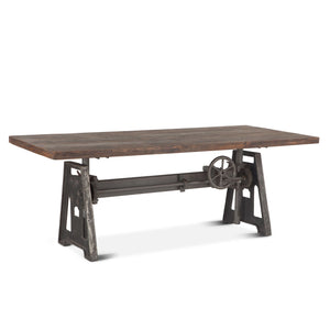"Industrial 84"" Dining Table Adjustable Height"