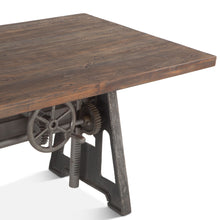 "Load image into Gallery viewer, Industrial 84"" Dining Table Adjustable Height"