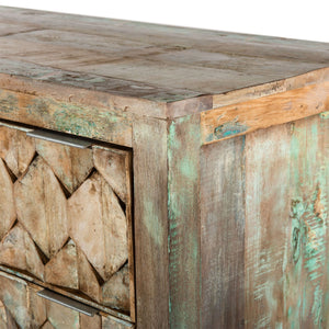 Rustic Honeycomb 6 Drawer Dresser