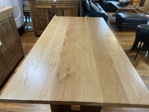 Block Island Collection Oak Dining Table Walnut Base