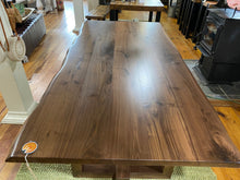 Load image into Gallery viewer, Walnut Live Edge SoHo Collection Dining Table