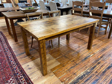 Load image into Gallery viewer, Rustic White Pine Dining Table Straight Leg Base