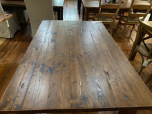 Load image into Gallery viewer, White Pine Dining Table with Straight Leg Base