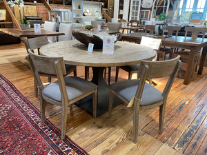 "60"" Round Dining Table with Iron Base"