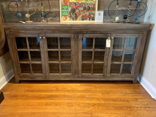 Load image into Gallery viewer, 4 Door Glass Cabinet - Greystone Finish