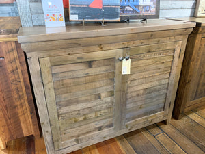 "50"" Two Door Shutter Cabinet - Beachwood Finish"