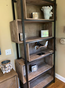 Tall Bookshelf with Adjustable Shelves