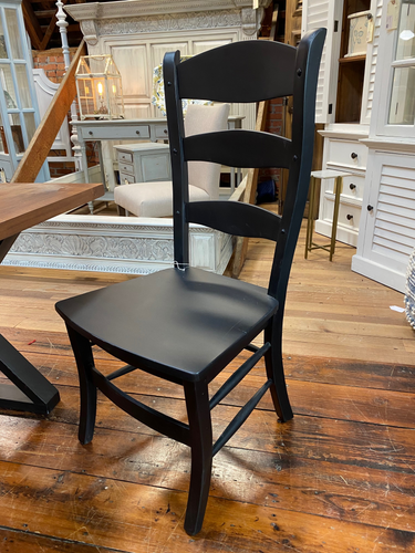 Black Ladderback Dining Chair