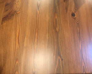 "72"" Georgia Heart Pine Dining Table with V base"