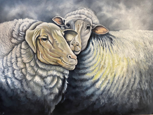 Hand Painted Canvas Sheep