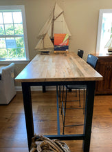 "Load image into Gallery viewer, 75"" Maple Bar Height Table"