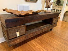 Load image into Gallery viewer, Mushroom Wood Console with 2 drawers