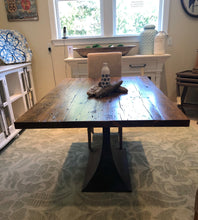 "Load image into Gallery viewer, 60"" White Pine Table - Metal Base"
