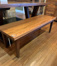 "Load image into Gallery viewer, 64"" Heart Pine Bench"