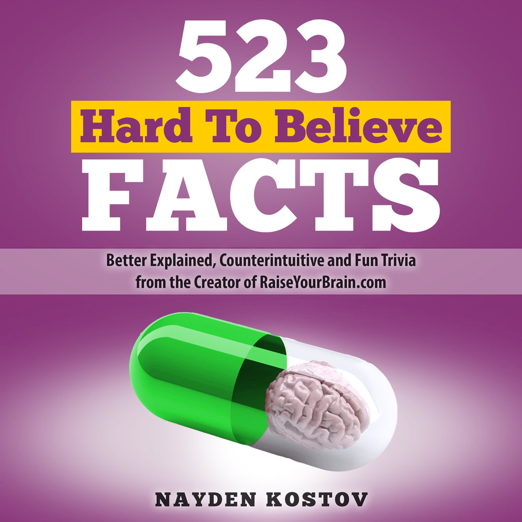 523 Hard to Believe Facts: Better Explained, Counterintuitive and Fun Trivia from the Creator of RaiseYourBrain.com