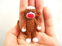 Crochet Sock Monkey 2 inches