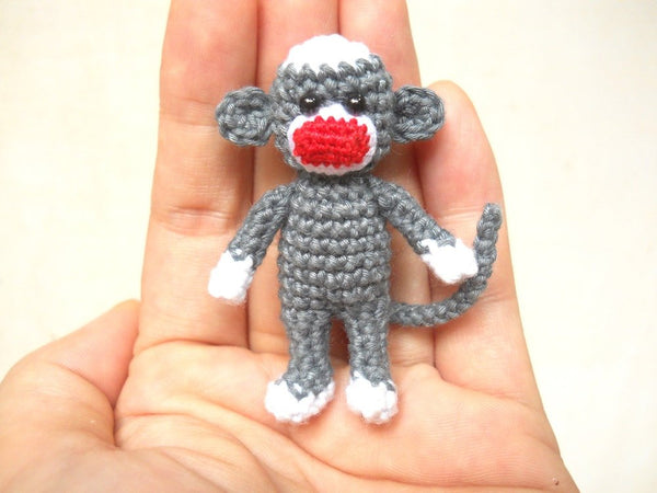 Mini Sock Monkey 2 inches