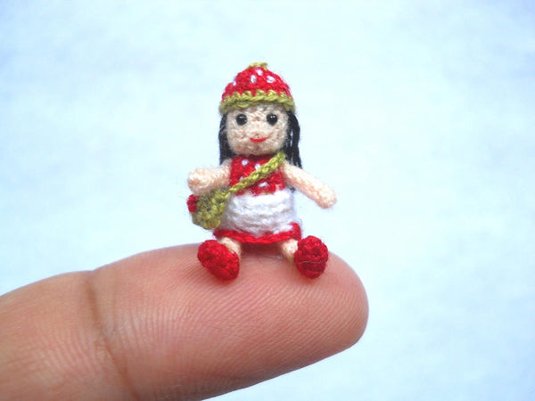 1 Inch Strawberry Girl Doll